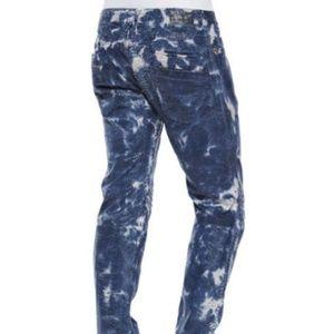 ROBIN'S JEAN Dye Moto Slim Straight Jeans